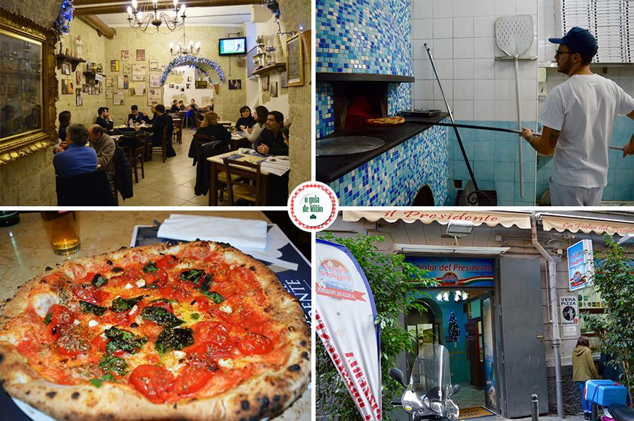 onde comer pizza em Nápoles Itália