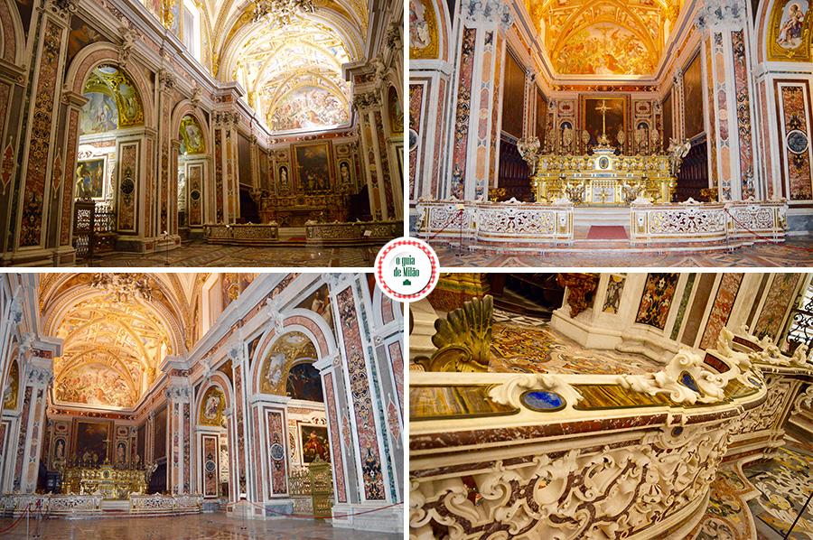 Igreja de Nápoles na Itália