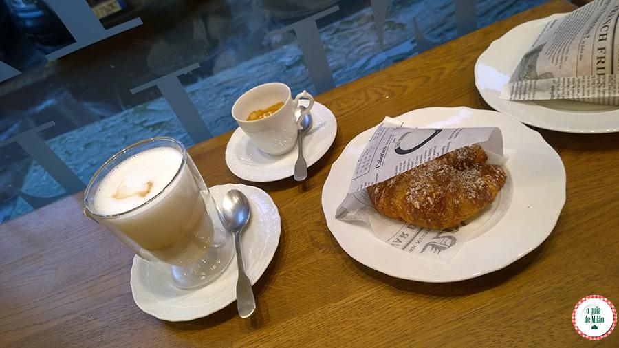 A melhor brioche de Milão Itália