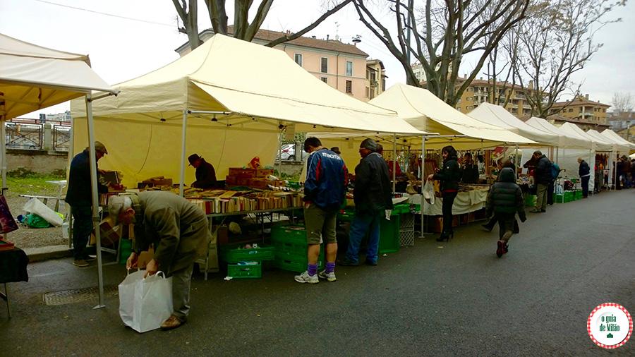 Feira de antiguidades em Milão