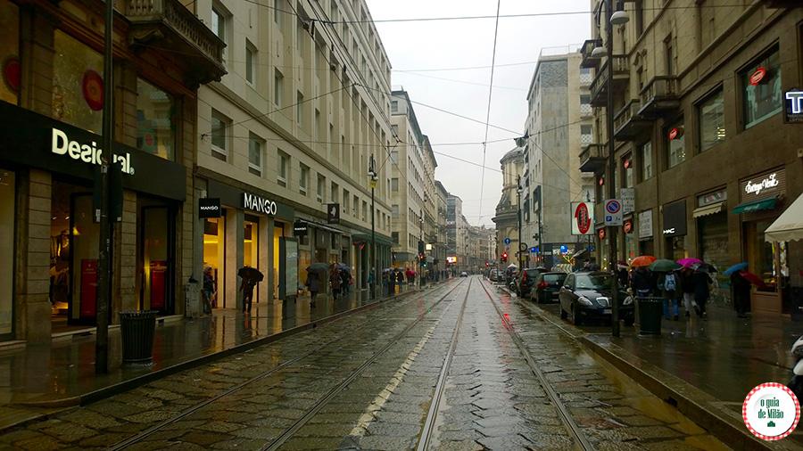 Lojas baratas em Milão