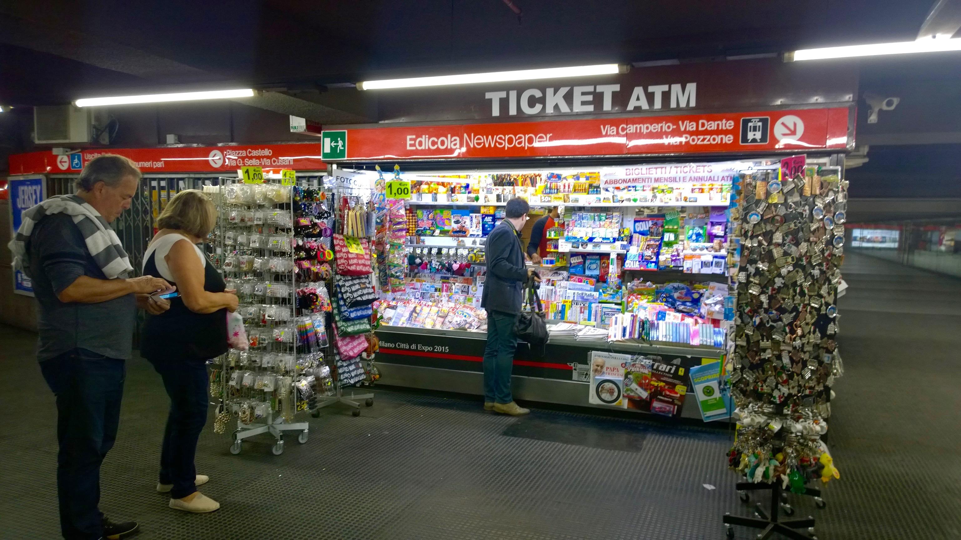 Onde comprar o bilhete para o metrô de Milão