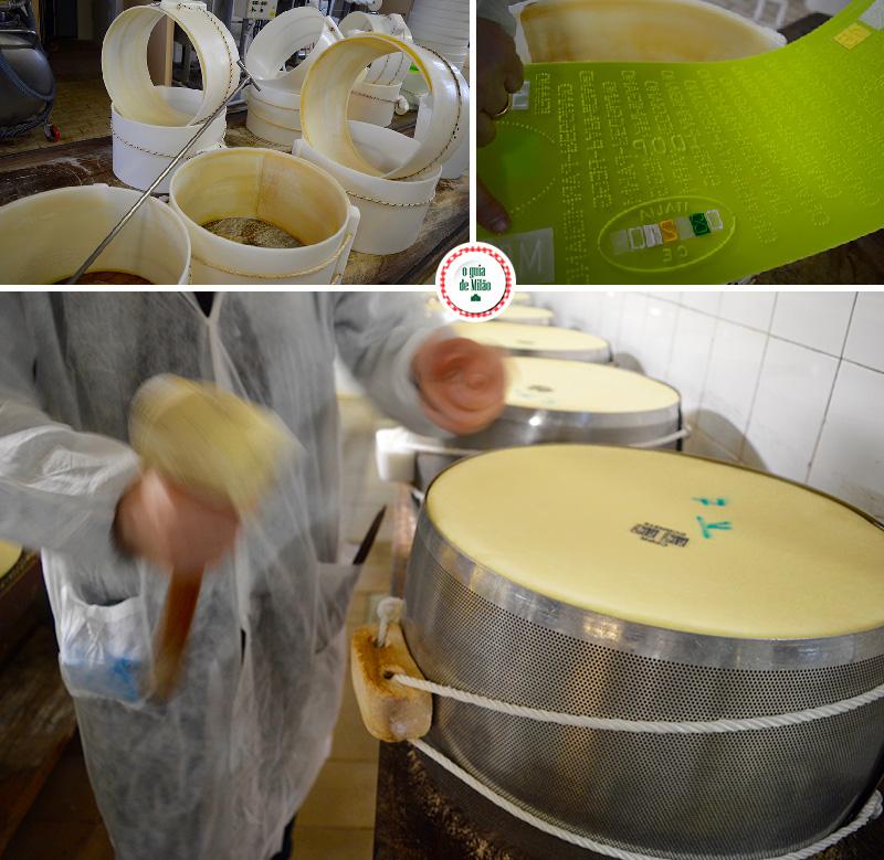 Processo de fabricação do queijo parmigiano em Parma na Itália