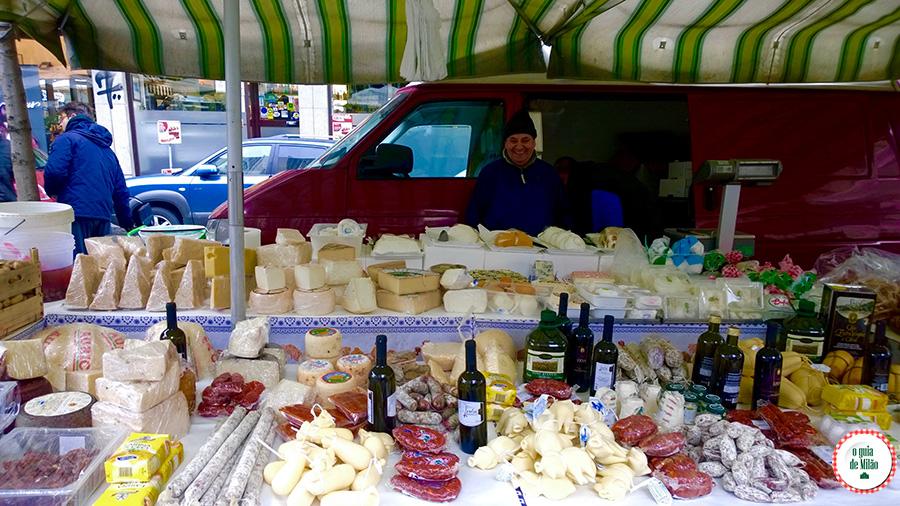 Produtos gastronômicos italianos em Milão