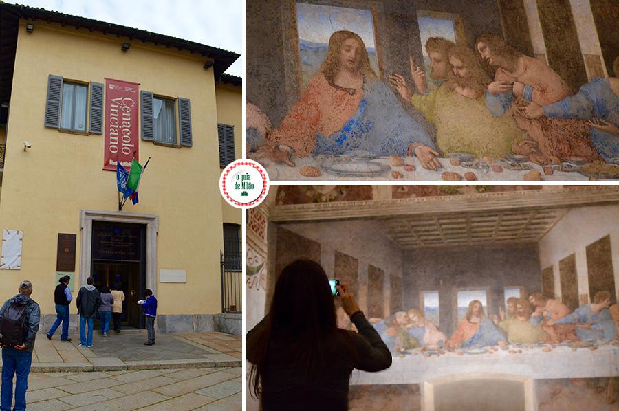 A última ceia de Leonardo da Vinci em Milão Itália