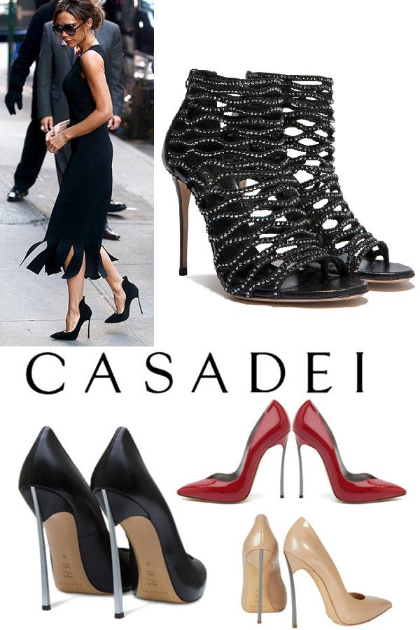 As melhores marcas de sapatos do mundo no quadrilátero da moda em Milão Casadei