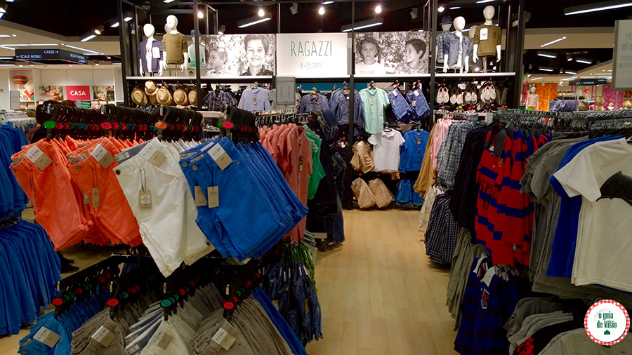 Shopping em Milão loja barata Primark