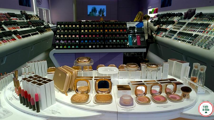 Compras de Maquiagem em Milão Kiko
