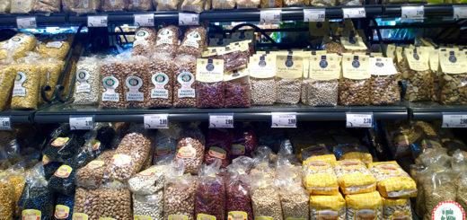 Produtos típicos dos supermercados italianos em Milão