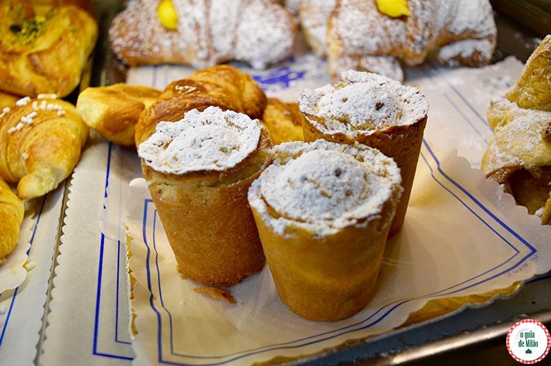 Pastelarias em Milão Pudim de arroz
