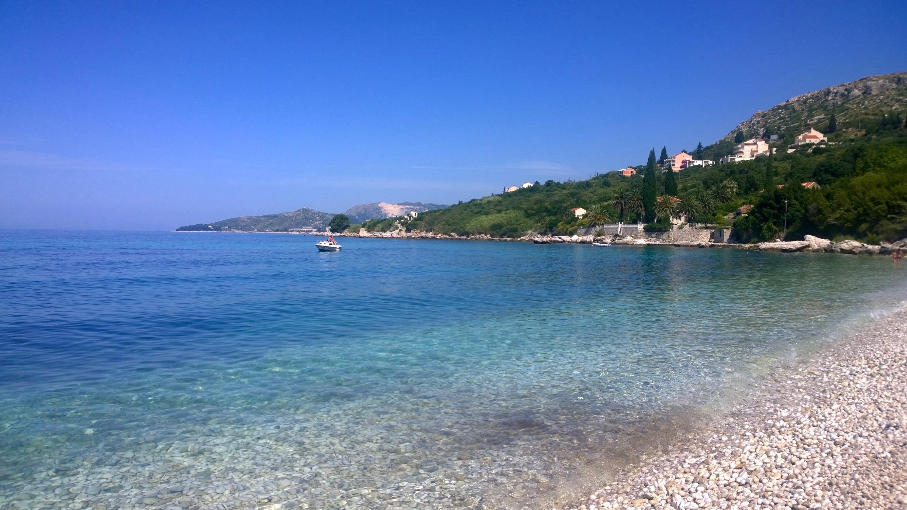 As melhores praias da Croácia Plat Dubrovnik