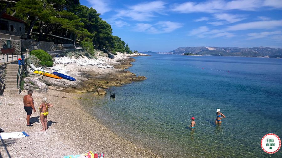 As praias de Dubrovnik Croácia