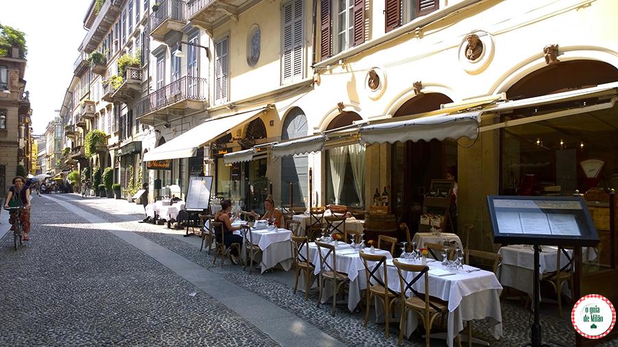 Dica de onde comer em Milão Osteria di Brera
