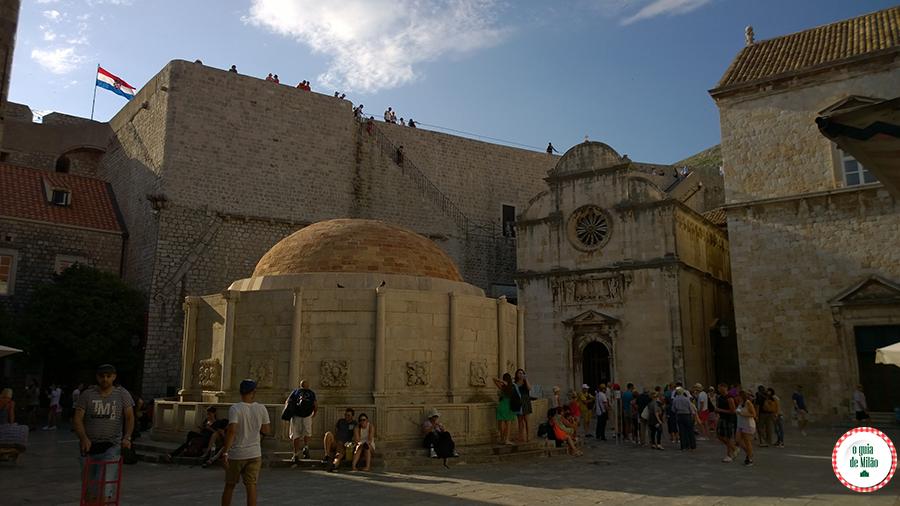 Pontos turísticos de Dubrovnik Croácia Muralhas de Dubrovnik Croácia