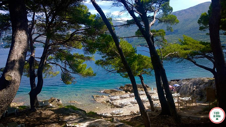 Praias na Croácia Praia Cavtat