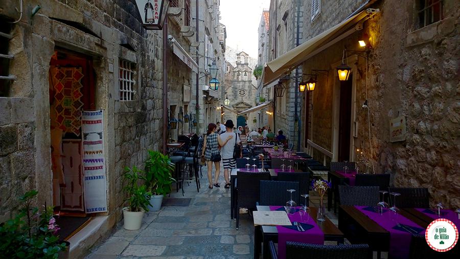 Restaurantes em Dubrovnik Croácia
