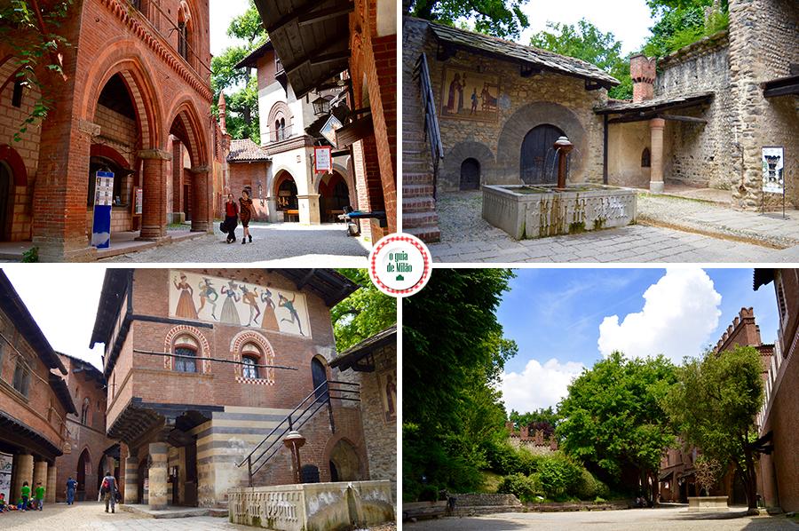 Turim Itália Borgo medievale Turim