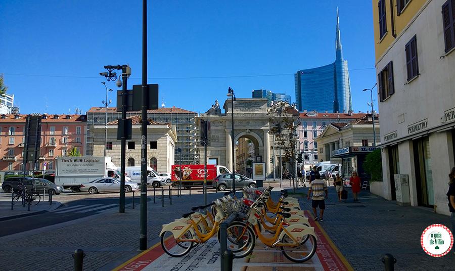 Aluguel de bicicleta em Milão Itália