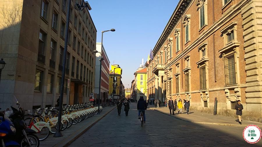 Transporte público em Milão Itália
