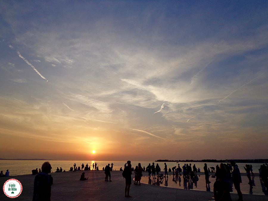 Pôr do sol em Zadar Croácia