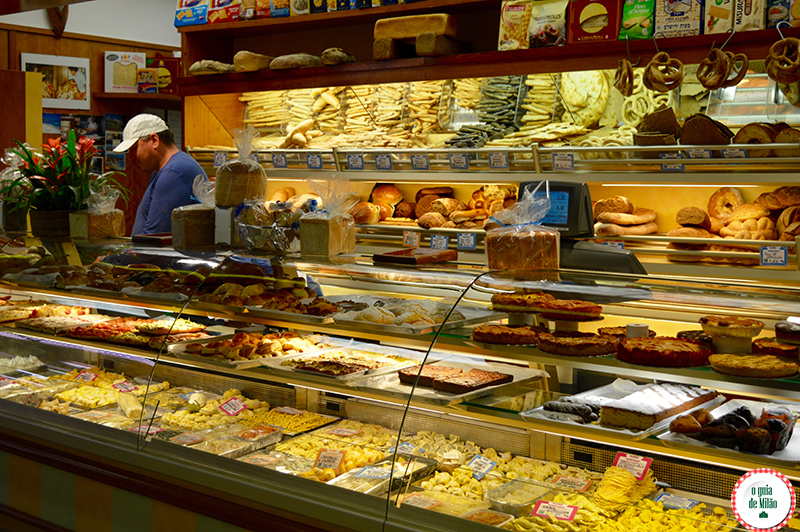 Produtos típicos italianos em Milão