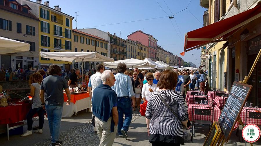 Atrações turísticas em Milão Mercado das pulgas em Milão Itália