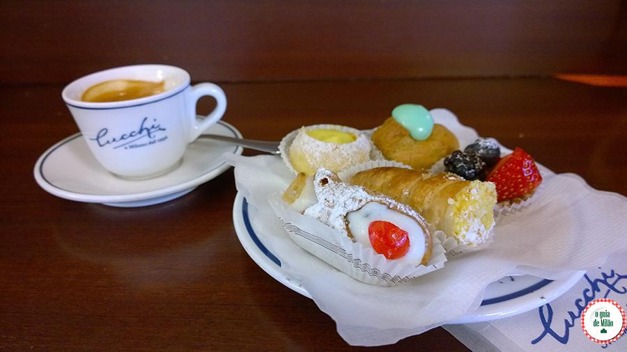 Confeitarias em Milão Doces típicos italianos Pasteleria Chucchi Milão Itália