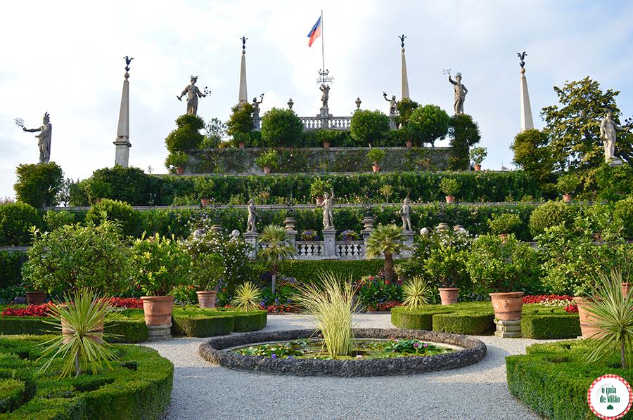 Jardim da Isola Bella Lago Maggiore Itália