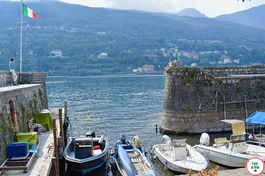 Lago Maior Itália Ilha Superiore dos Pescadores Turismo no lago Maggiore Itália