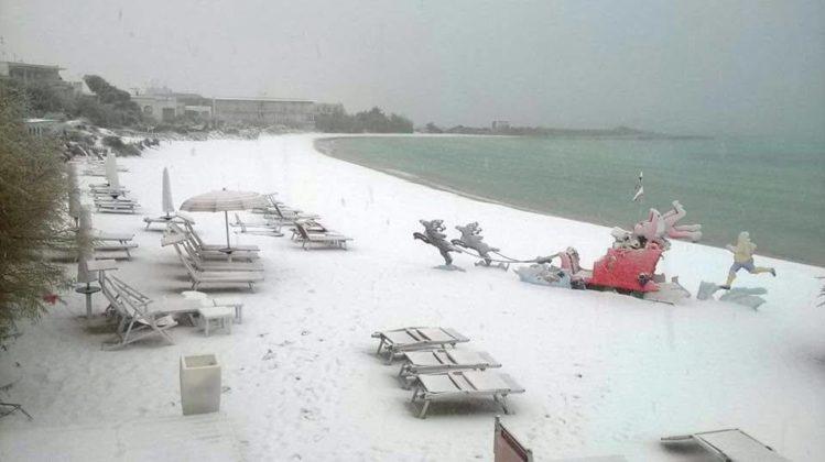 Neve em Salento: O mundo vai acabar?