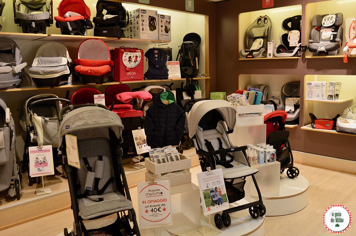 Enxoval de bebê barato em Milão
