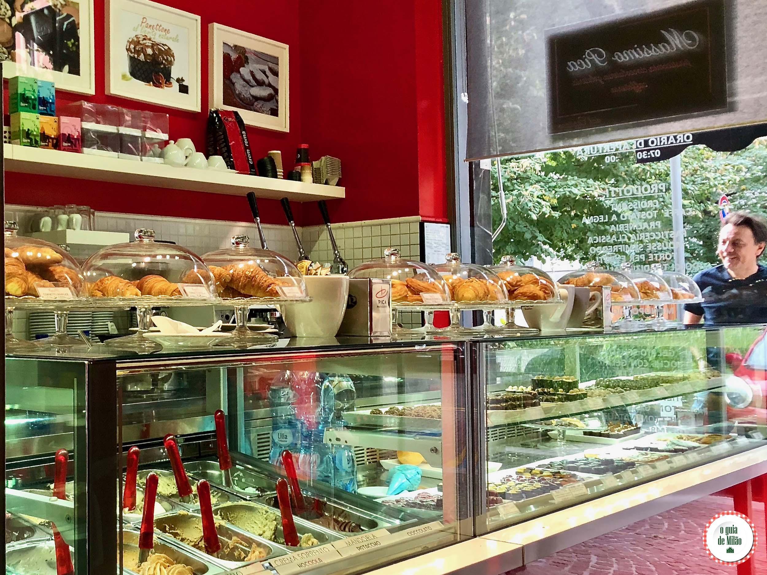 Confeitaria Massimo Pica em Milão