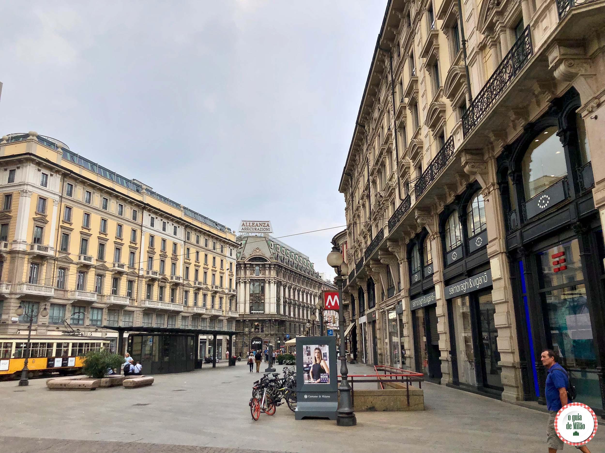 Aonde te leva a linha vermelha do metrô de Milão