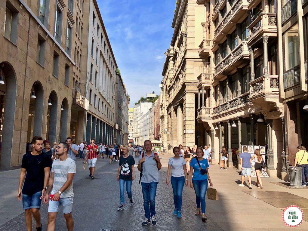 Corso Vittorio Emanuele em Milão