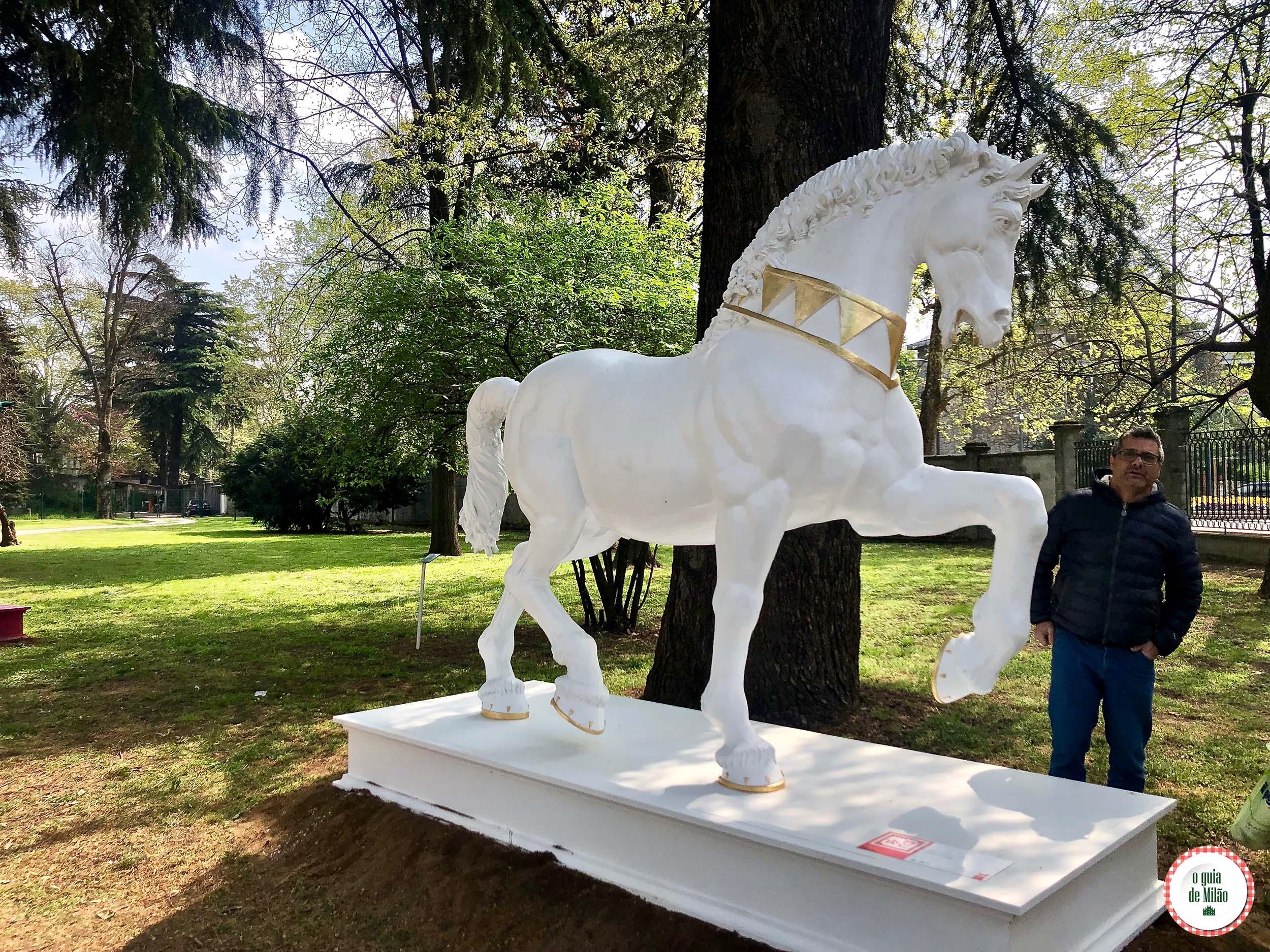 Exposição Leonardo Horse Project em Milão