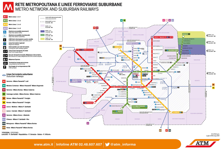 Metrô de Milão: mapa, horário, linhas e bilhetes